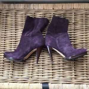 Cole Haan- Leather Suede Stiletto Boots